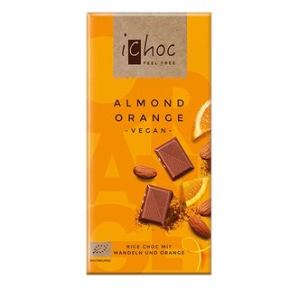 iChoc Bio Almond Orange - 80g