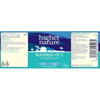 Higher Nature gepuffertes Vitamin C - 60g
