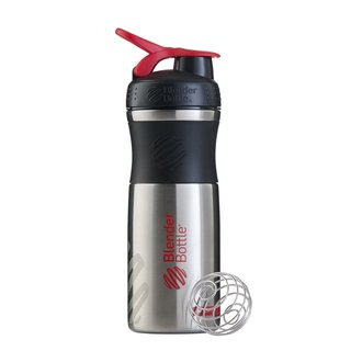 BlenderBottle Sportmixer Edelstahl - 820ml Black-Red