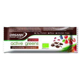 Organic Food Bar Bio Chocolate Covered Active Greens +...