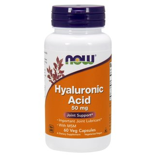 Now Foods Hyaluronsäure 50mg mit MSM - 60 Kapseln