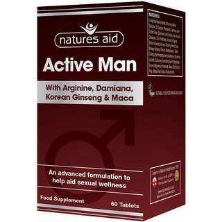 Natures Aid Active Man mit Arginine & Korean Ginseng & Maca - 60 Tabletten
