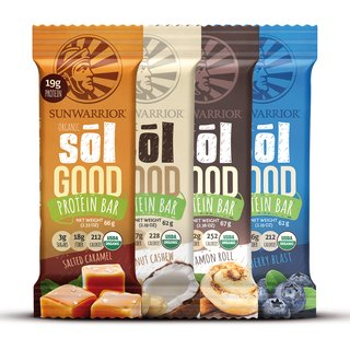 Sunwarrior Sol Good Protein Bar - 62g Blueberry Blast