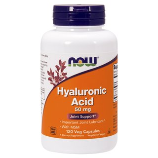 Now Foods Hyaluronsäure 50mg mit MSM - 120 Kapseln