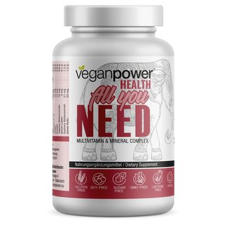 Veganpower All You Need Multivitamin - 60 Kapseln