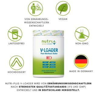 Nutri-Plus Vegan Sports V-Loader Post-Workout Shake - 750g