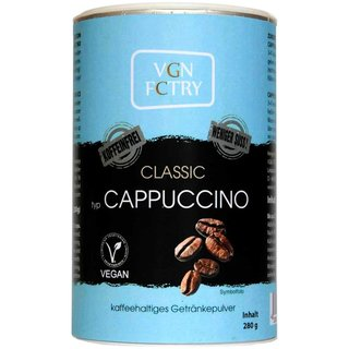 VGN FCTRY Instant Cappuccino Classic weniger süß...