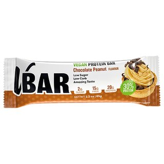 Veasy+ Vbar Vegan Protein Bar - 65g Chocolate Peanut