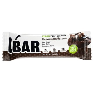 Veasy+ Vbar Vegan Protein Bar - 65g Chocolate Muffin