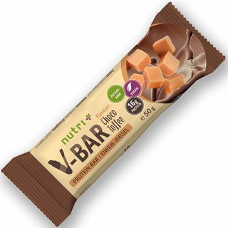 Nutri-Plus Protein-Riegel V-Bar Vegan Choco-Toffee - 50g