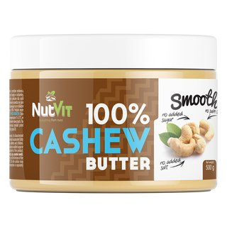 NutVit 100% Cashew Butter - 500g Smooth