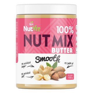 NutVit 100% Nut Butter Mix Smooth - 500g/1000g