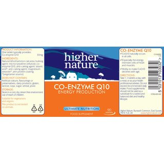 Higher Nature Co-Enzym Q10 30mg - 90 Tabl.
