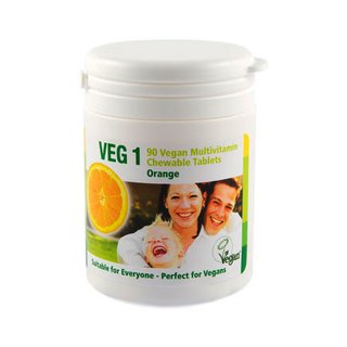 VEG1 Vitaminsupplement (Vegan Society) - 90 Tabl. Orange