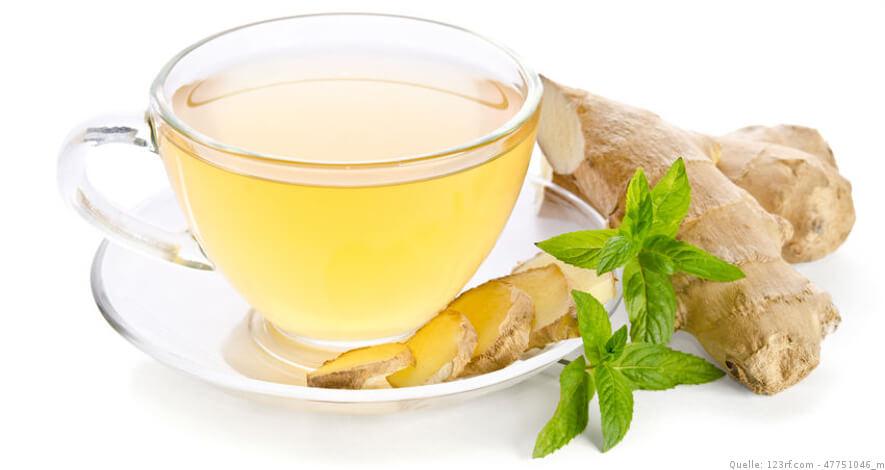 Ingwer mit Tee