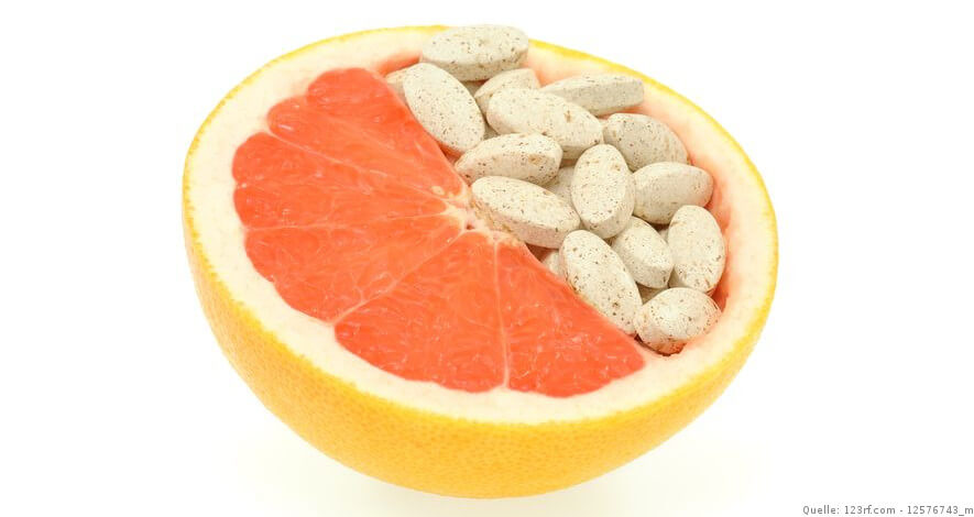 Grapefruit mit Vitamin C