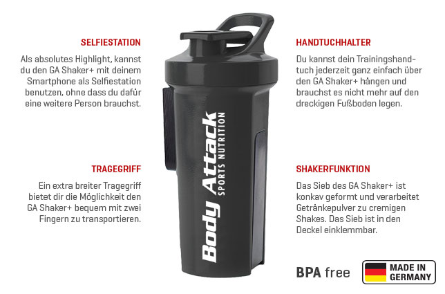Body Attack Sports Nutrition GA Shaker+ - 1000 ml